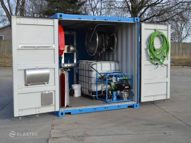 Sistem Spray BoomVane dalam bekas