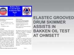 Elastec skimmer drum grooved yang digunakan dalam ujian minyak Bakkah
