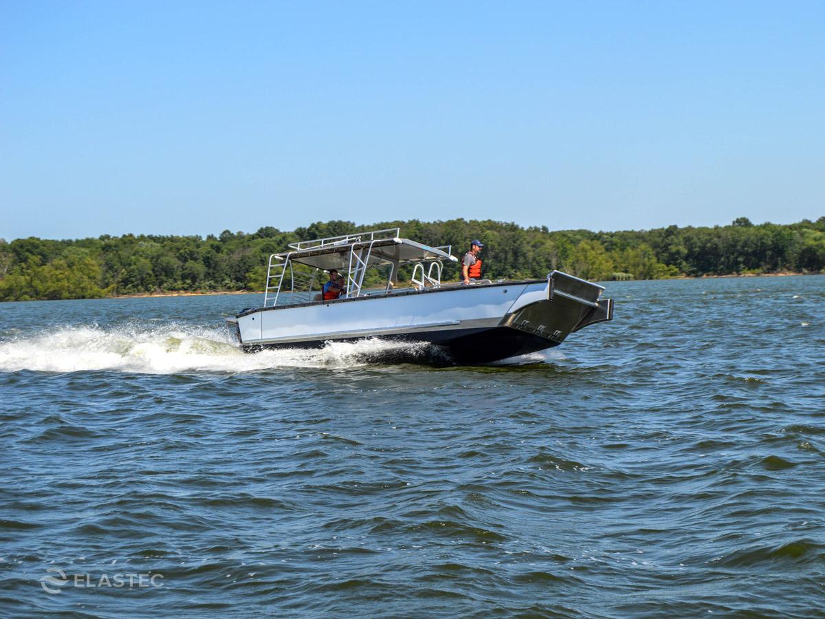 Dive platform workboat