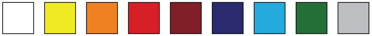 Elastec fumigation tarp color chart