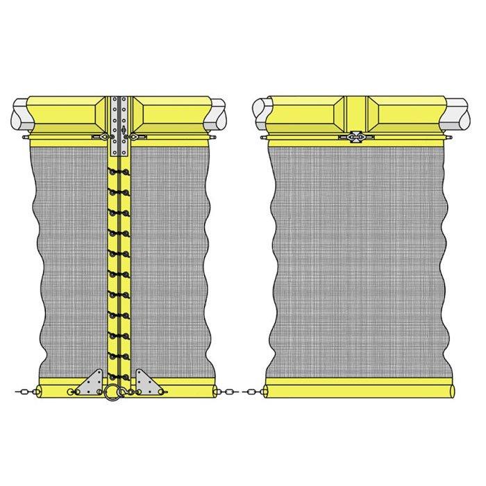 Filter cloth silt curtain